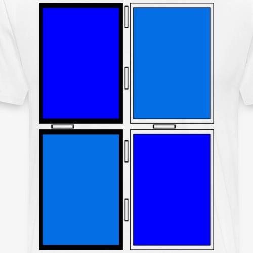 Geometrie/Bunt/Rechteck - Männer Premium T-Shirt