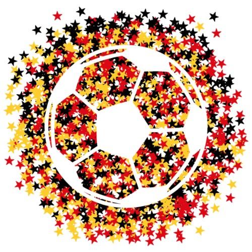 Fußball in Stern-Konfetti - Männer Premium T-Shirt