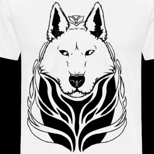 Siberian Husky logo - Men's Premium T-Shirt