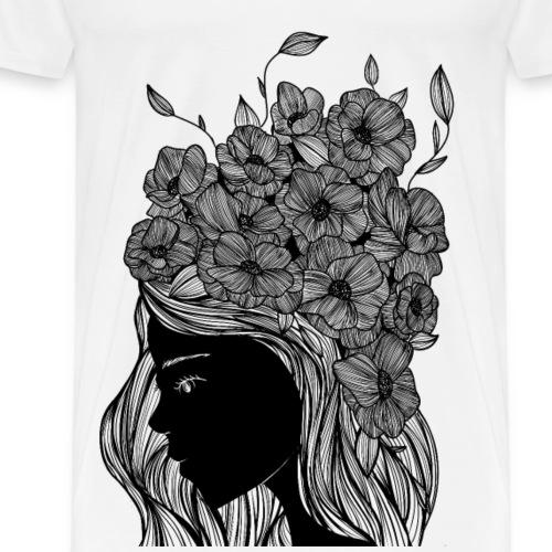 Flower portrait - Maglietta Premium da uomo