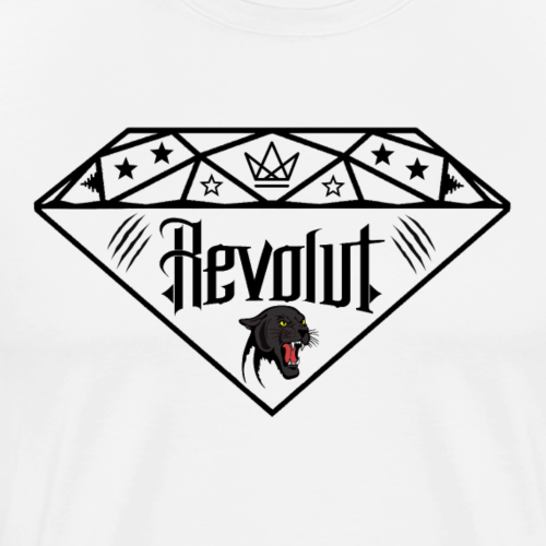 Revolut Logo Schwarz - Männer Premium T-Shirt