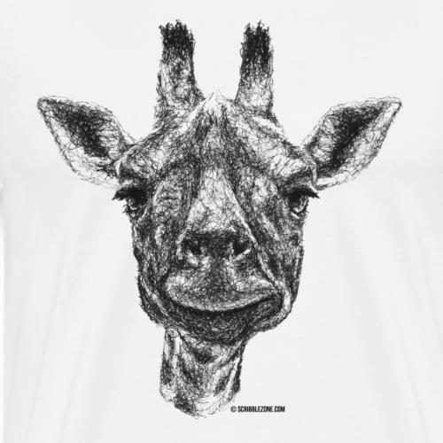 Scribbled Giraffe - Männer Premium T-Shirt