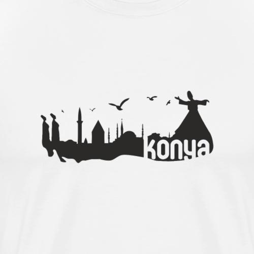 konya sehir silueti - Männer Premium T-Shirt