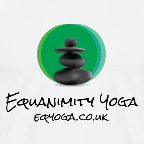 Equanimity Yoga Logo Black text - Men's Premium T-Shirt