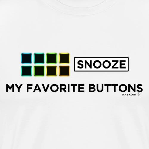 Snooze + Phantom Buttons // Kaskobi - Men's Premium T-Shirt