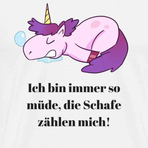 Einhorn Comic Sprüche Design - Männer Premium T-Shirt