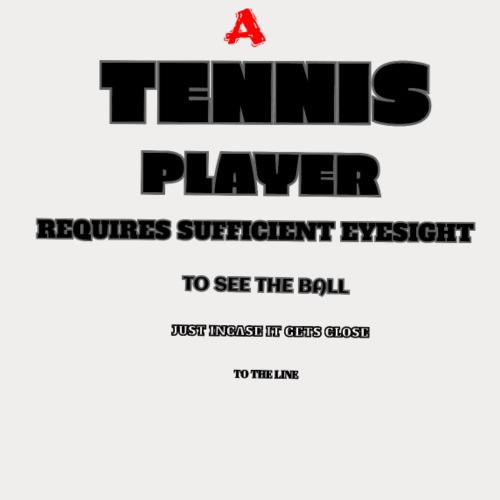 TENNIS EYE TEST - Men's Premium T-Shirt