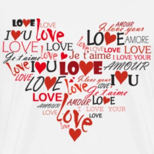 Herz aus Liebe - Männer Premium T-Shirt