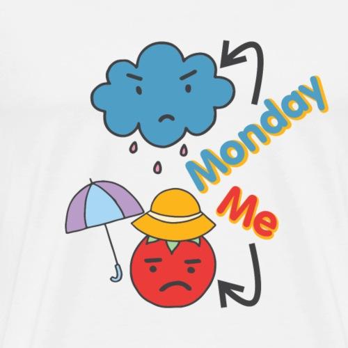 Montag und Ich Sketch Shirts Geschenkidee Cartoon - Männer Premium T-Shirt