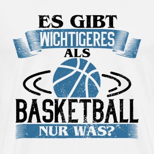 Es gibt wichtigeres als Basketball - Blau - Männer Premium T-Shirt