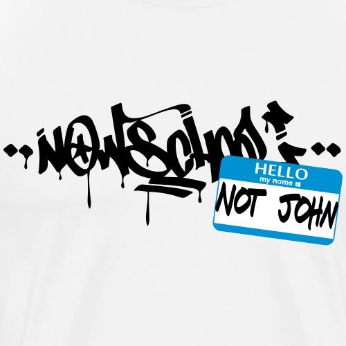 Now-School - Hello my name is not John (Blue) - Men's Premium T-Shirt