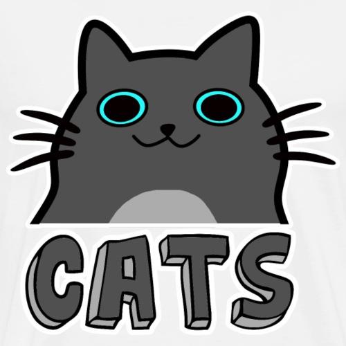 Cartoon Katzen - Männer Premium T-Shirt