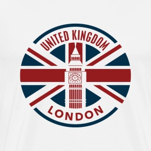 Storbritannia - London - Union Jack Flag - Premium T-skjorte for menn