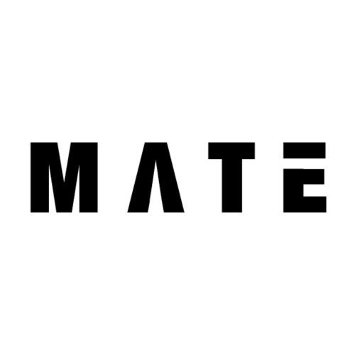 Mate-Schriftzug (breitgezogen) - Männer Premium T-Shirt
