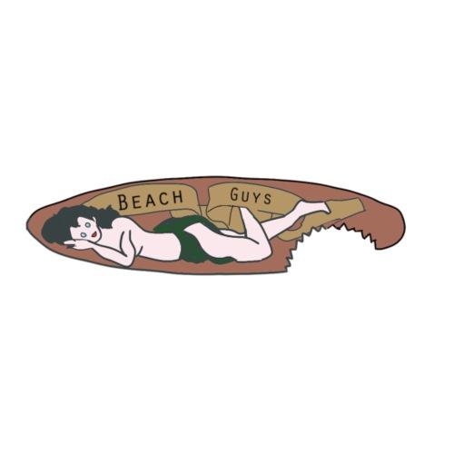 BeachGuys Surfboard - Mannen Premium T-shirt