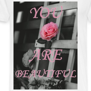 You Are Beautiful - Mannen Premium T-shirt