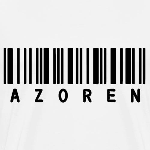 Strichcode Azoren - Männer Premium T-Shirt