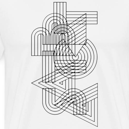 abstract line - Männer Premium T-Shirt