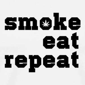 smoke eat repeat - Männer Premium T-Shirt