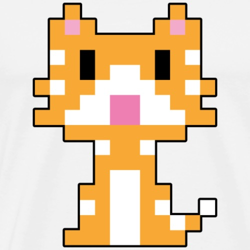 Katze - Retro Stubentieger - Männer Premium T-Shirt