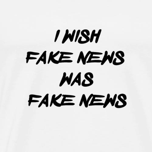 fake news black - Mannen Premium T-shirt