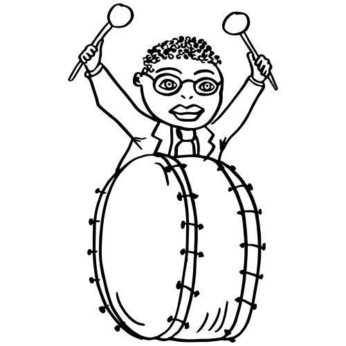 Drummer Ringo Moon Jr - Männer Premium T-Shirt