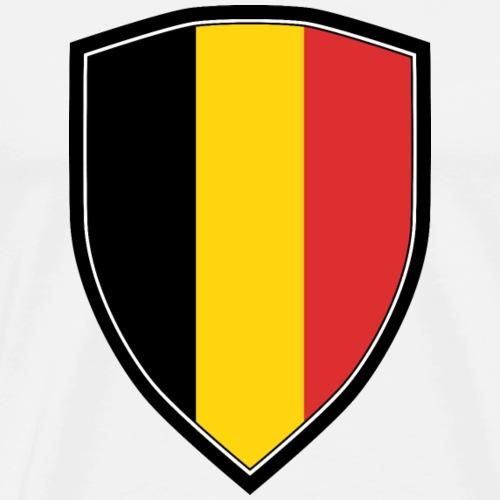 BELGIUM FLAG SHIELD - Männer Premium T-Shirt