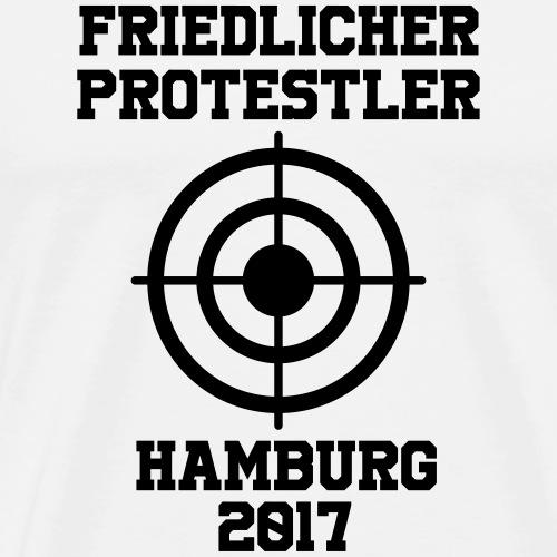 Friedlicher Protestler Hamburg 2017 - Männer Premium T-Shirt