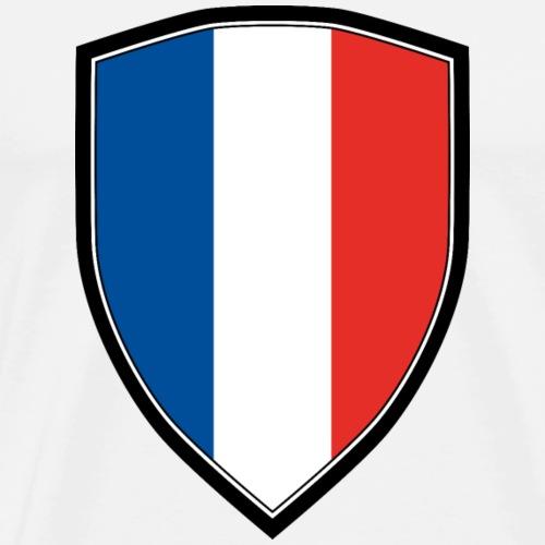 FRANCE FLAG SHIELD - Männer Premium T-Shirt