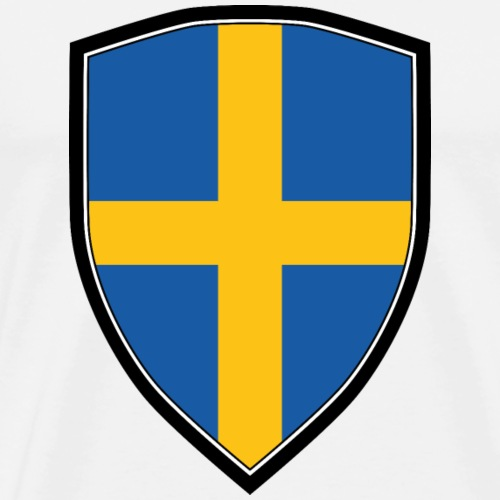SWEDEN FLAG SHIELD - Männer Premium T-Shirt