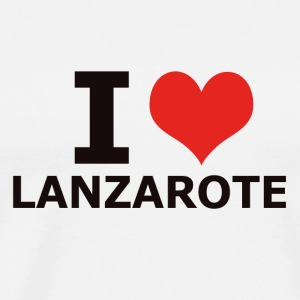 I LOVE LANZAROTE - Men's Premium T-Shirt