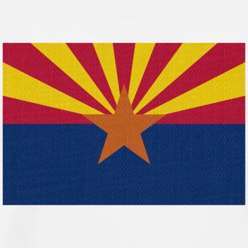 Arizona Fahne 2 - Männer Premium T-Shirt