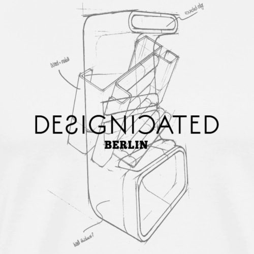 Designicated Berlin schwarz - Männer Premium T-Shirt
