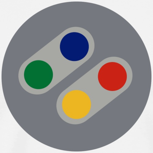 Retro SNES Buttons - Men's Premium T-Shirt