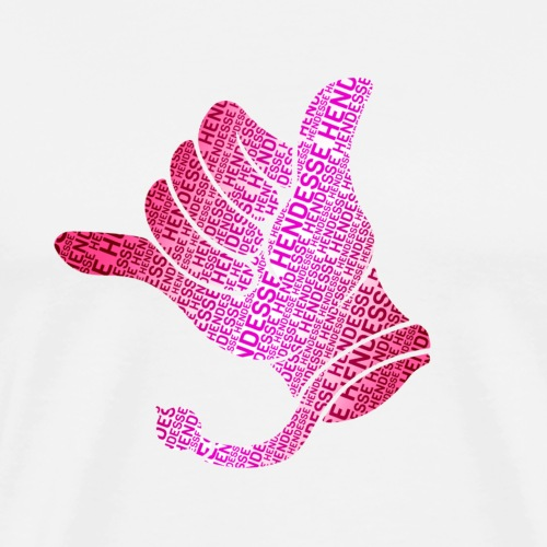Kerwe Handschuh Hendesse Pink - Männer Premium T-Shirt