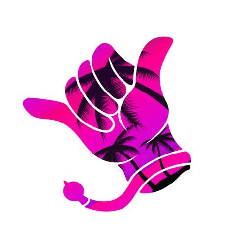 Kerwe Handschuh Palmen Pink - Männer Premium T-Shirt
