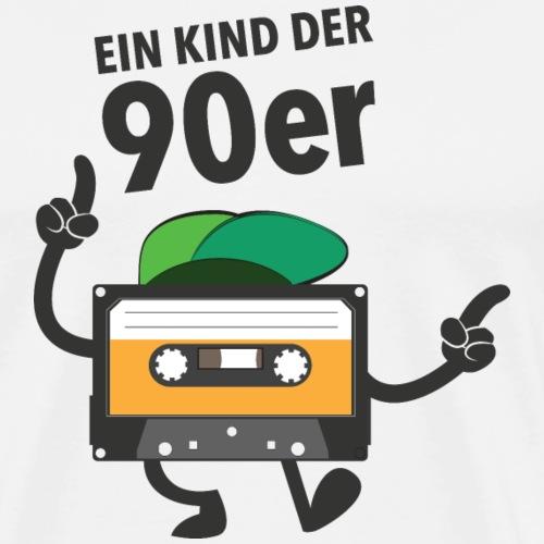 Ein Kind Der 90er - Tanzende Kassette - Männer Premium T-Shirt
