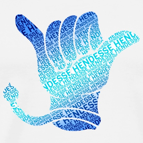 Kerwe Handschuh Hendesse Blau - Männer Premium T-Shirt