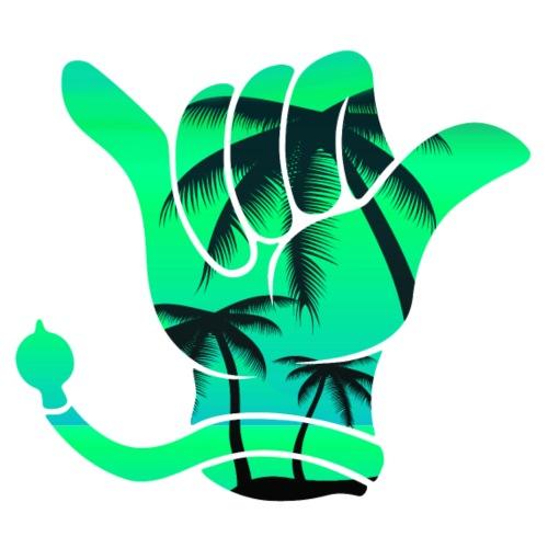 Kerwe Handschuh Palmen Grün - Männer Premium T-Shirt