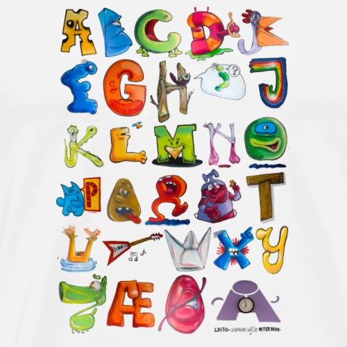 Det Wille Alfabet - Herre premium T-shirt