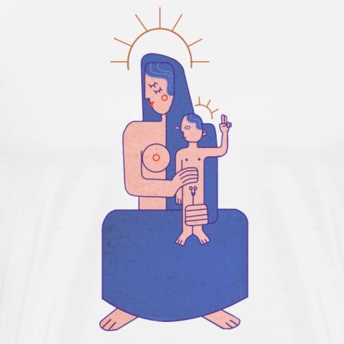 Vierge à l'enfant - T-shirt Premium Homme