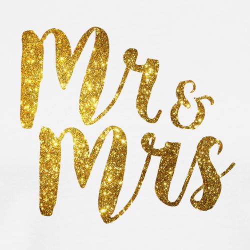 Mr & Mrs . Hen / Bachelorette / Stag / Wedding Day - Men's Premium T-Shirt
