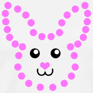 Dot-to-Dot Bunny - Premium T-skjorte for menn