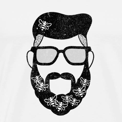 Beekeeper Imker Honig Hipster Brille Bart Geschenk - Männer Premium T-Shirt