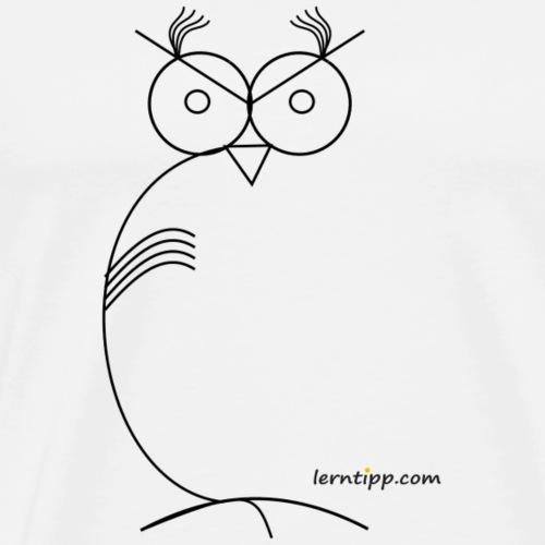 Eule abstrakt / owl abstract with logo - Männer Premium T-Shirt
