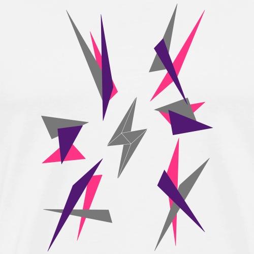 l'art de la foudre color explode - Männer Premium T-Shirt