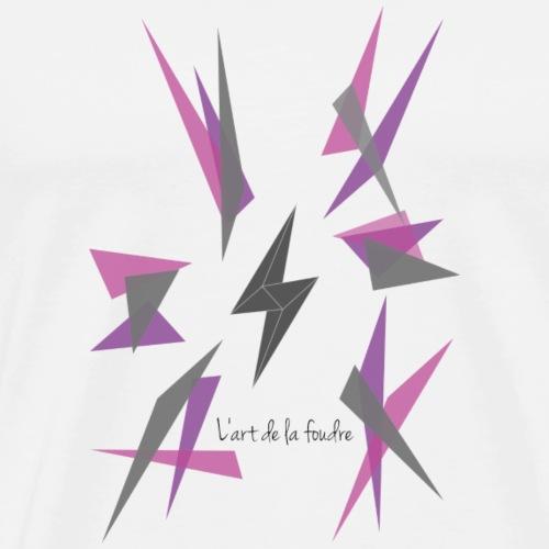 l'art de la foudre purple explode - Männer Premium T-Shirt