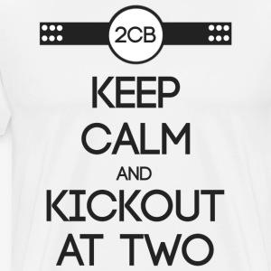 ''Keep Calm and Kickout at Two'' grey. - Männer Premium T-Shirt