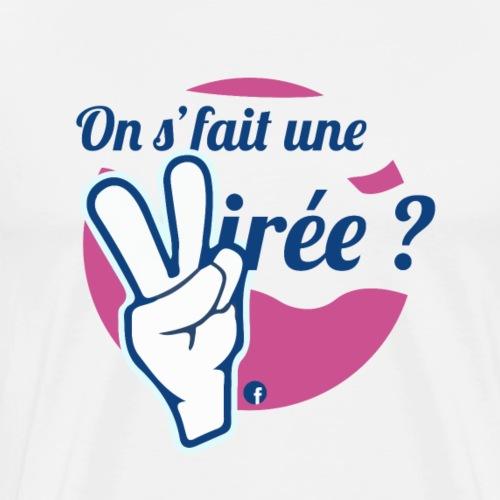 On s'fait une virée ? Logo : Rose - T-shirt Premium Homme