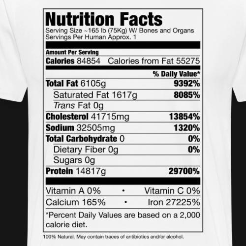 Human Nutrition Facts - Maglietta Premium da uomo